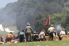 Civil war reenactment Stock Photos