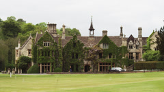 WS Old mansion / Castle Combe, Cotswolds, Wiltshire, UK Stock Footage
