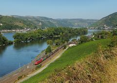 middle Rhine Valley near Lorch - stock photo