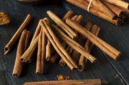 Stock Photo of organic raw brown cinnamon