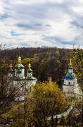 Vydubitskiy monastery in kyiv, ukraine Stock Photos