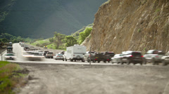 T/L WS Cars on highway / Spanish Fork Canyon, Utah, USA Stock Footage