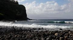 Kahakuloa Bay north coast Stock Footage