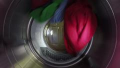 Slow Motion of Clothes Going Through Dryer Stock Footage