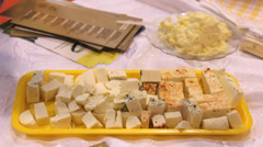 cheese on plate - stock footage
