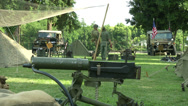 Stock Video Footage of US soldiers at command post during a WWII reenactment 6