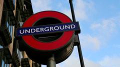 London Underground Sign Stock Footage