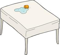 Spilled water on table Stock Illustration