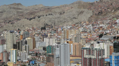 La Paz city view with high rise buildings  c Stock Footage