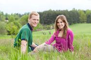 Stock Photo of couple spending time together in countryside