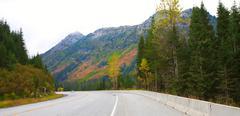 Stock Photo of road trip to leavenworth