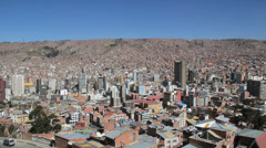 La Paz city view with houses on hill c Stock Footage