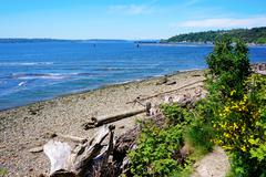Tacoma ne browns point puget sound. Stock Photos