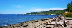 Tacoma ne browns point puget sound. Stock Photos