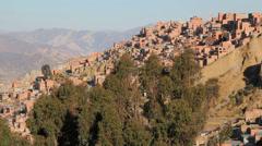 La Paz upper city c Stock Footage