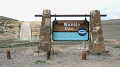 Navajo Dam New Mexico Bureau Reclamation HD 214 Stock Footage