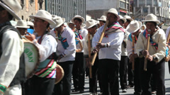 Stock Video Footage of La Paz fiesta band plays during a fiesta
