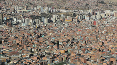 La Paz city view c Stock Footage