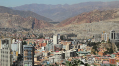 La Paz city view tall buildings c Stock Footage