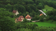 WS HA View of Rothenburg ob der Tauber / Germany Stock Footage