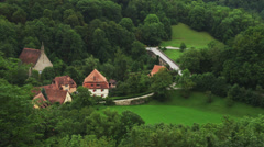 WS HA PAN View of Rothenburg ob der Tauber / Germany Stock Footage