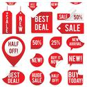 Stock Illustration of Sale Tags and Stickers Set