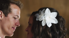 CU TD Bride and groom kissing / Draper, Utah, USA - stock footage
