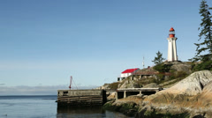 Point Atkinson Lighthouse, British Columbia Stock Footage
