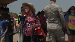 2014 Defenders of Liberty Air Show at Barksdale Air Force Base. Stock Footage