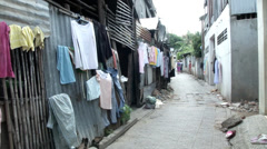 Cambodia alleyway 1 - stock footage