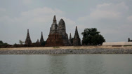 Stock Video Footage of Wat Chaiwatthanaram, Ayutthaya, Thailand