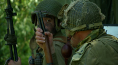 US airborne Normandy 01 - stock footage