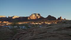 WS DS Rocks surrounding Lake Powell / Utah, USA Stock Footage