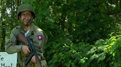 US airborne Normandy 03 - stock footage