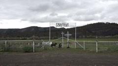Trujillo Cemetery southern Colorado valley HD Stock Footage