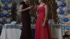 MS Students talking on prom night / Cedar Hills, Utah, USA Stock Footage