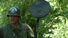 US airborne infantry troops close up 01 - stock footage