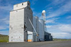 Grain elevator and storage silo Stock Photos