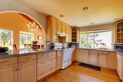 Beautiful kitchen interior Stock Photos