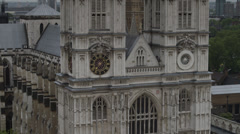 MS TU Facade of Westminster Abby / London, UK Stock Footage