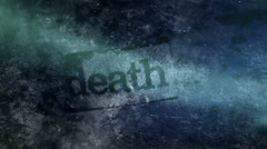 Death word non looping backdrop Stock Footage