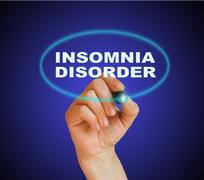 Insomnia disorder Stock Illustration