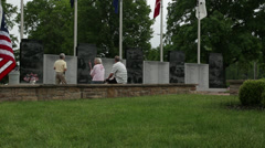 Cemetery on Memorial Day Stock Footage