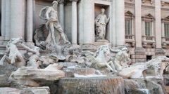 Fontana di Trevi - Trevi Fountain Stock Footage