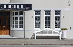 Art Deco hotel - stock photo