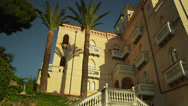 Stock Video Footage of WS PAN LA Apartment building / Ravello,Campania,Italy