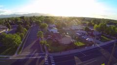 Neighborhood Aerial Lift  Houses 13 Stock Footage