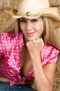 smiling country girl - stock photo
