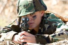 Stock Photo of military woman