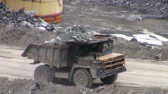 Open Pit Mine Stock Footage